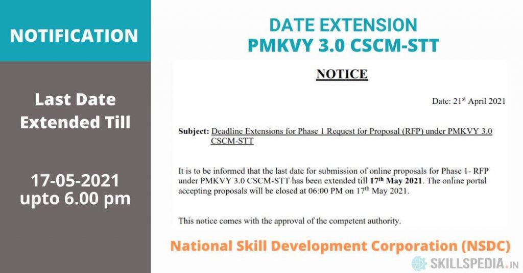 SKILLSPEDIA-notice-RFP-dealine-extension-PMKVY3.0