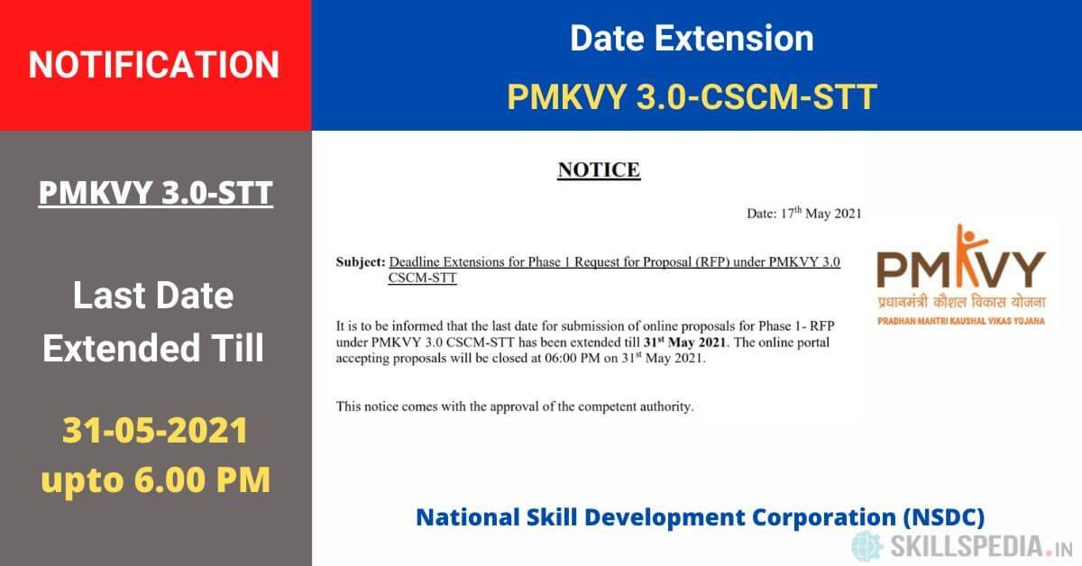SKILLSPEDIA-Notice-PMKVY3-RFP-dealine-extension