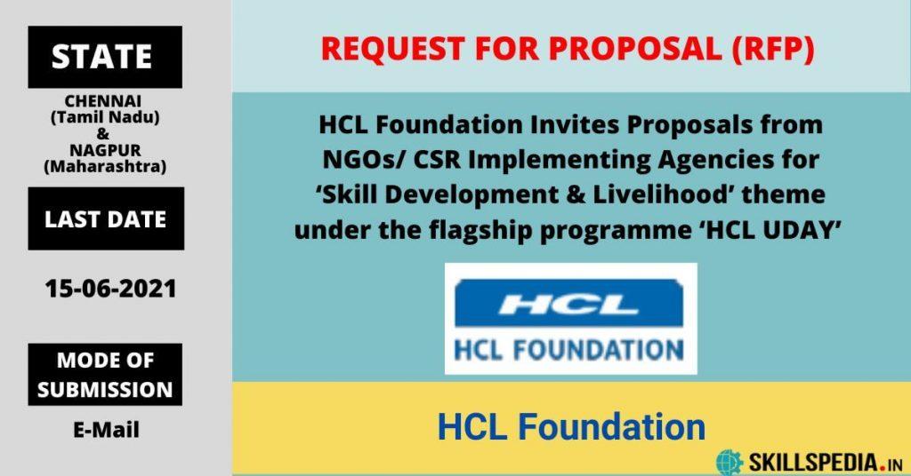 SKILLSPEDIA-RFP-HCL-Uday-Skill-Livelihood
