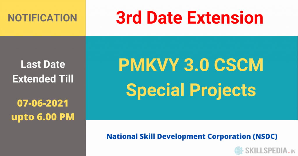 SKILLSPEDIA-notice-RFP-dealine-extension-SPECIAL-PROJECTS-PMKVY3.0-3rd