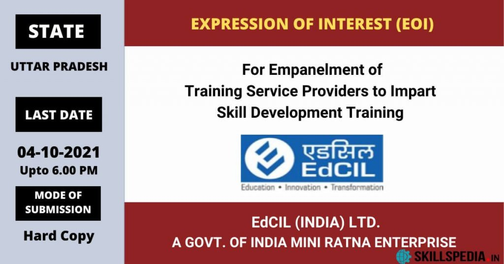 SKILLSPEDIA-EdCIL-EOI-Training-Service-Providers-UTTAR-PRADESH-2021
