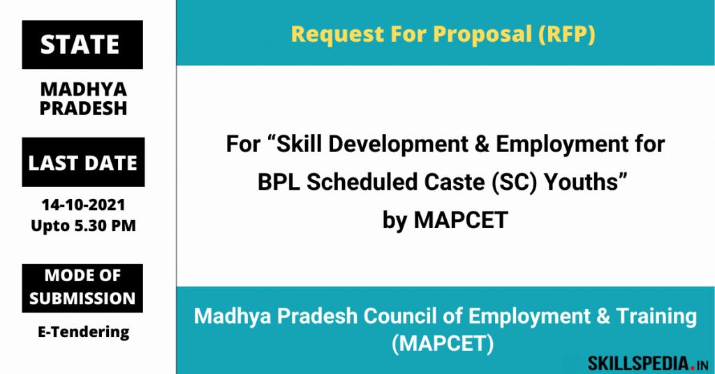 SKILLSPEDIA-MAPCET-RFP-SKILL-DEVELOPMENT-SC-BPL-YOUTH-2021